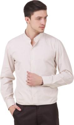 Roar and Growl Men's Solid Casual Beige Shirt