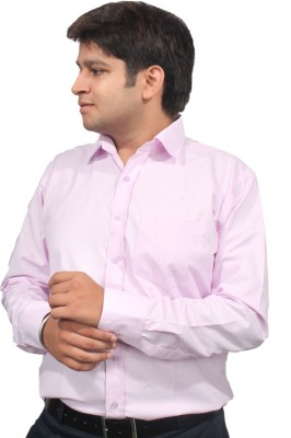 Jeffrey Rozers Men's Solid Formal Pink Shirt