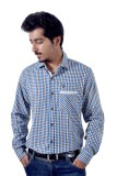 Tenor Men's Checkered Casual Blue, Brown...