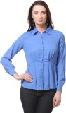 Envy Me Women's Solid Casual Blue Shirt