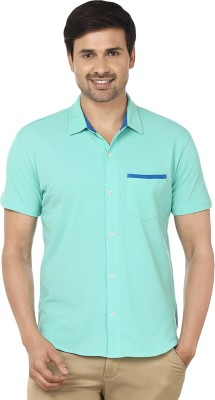 Ruse Men's Solid Casual Green Shirt