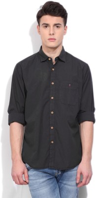 LP Jeans by Louis Philippe Mens Solid Casual Black Shirt