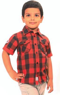 Bio Kid Boy's Checkered Casual Multicolor Shirt