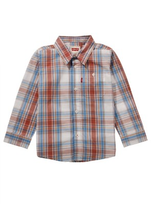 Levis Kids Boy,s Checkered Casual Multicolor Shirt