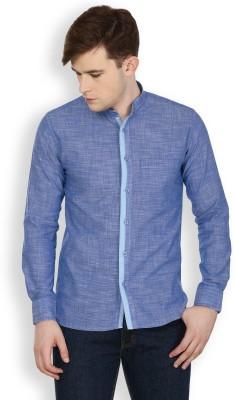 Cotton County Premium Men's Solid Casual Blue Shirt