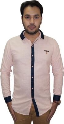 Ali Darzi Men's Solid Casual Pink Shirt