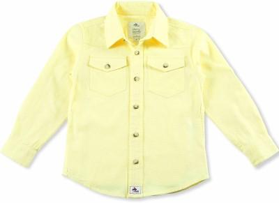 Cherry Crumble California Boy's Checkered Casual Yellow Shirt