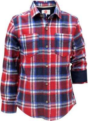 The Cranberry Club Boy's Checkered Casual Blue, Red Shirt