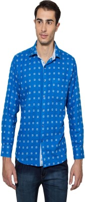 Lee Marc Men's Checkered Casual Blue Shirt