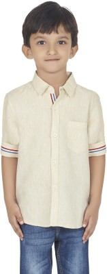 SuperYoung Boy's Solid Casual White Shirt