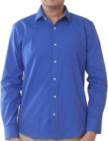 Valessi Formal Shirts (Men's) - Valessi Men's Solid Formal Blue Shirt