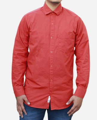 Yzade Men's Solid Formal, Casual, Party, Wedding Red Shirt