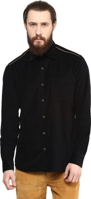 Cairon Men's Solid Casual Black Shirt