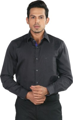 Provogue Men's Solid Formal Grey Shirt