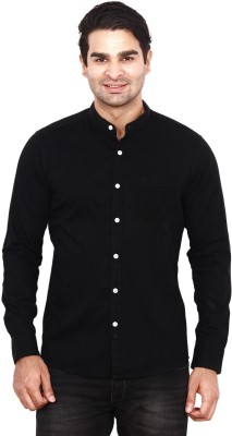 ANDY TRENDZ Men's Solid Casual Black Shirt