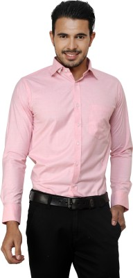 American Cult Men's Solid Formal Reversible Pink Shirt