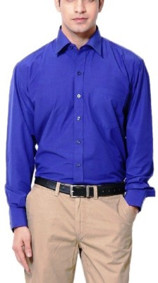 Rv Collection Men's Solid Casual Blue Shirt