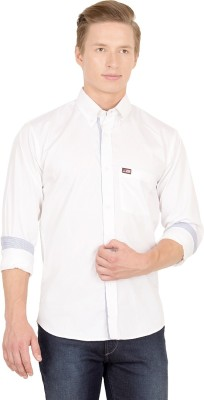 Union Street Men's Solid Casual White Shirt