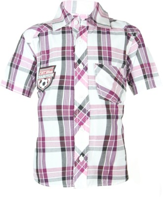 ANT Boy's Striped Casual Pink Shirt