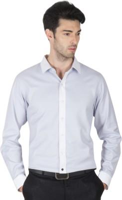 Roar and Growl Men,s Striped Formal Grey Shirt