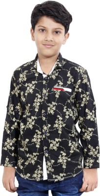 MagPie Boy's Self Design Casual Multicolor Shirt