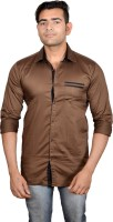 Lomhara Formal Shirts (Men's) - Lomhara Men's Solid Formal Brown Shirt
