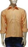 EXIN Fashion Men's Striped Formal Orange...