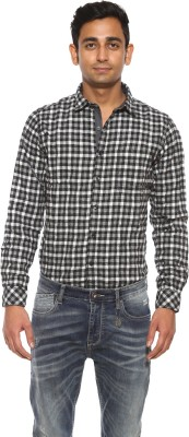 Pepe Jeans Men's Checkered Casual Black Shirt