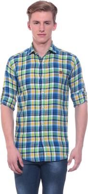 Tabser Men's Checkered Casual Multicolor Shirt