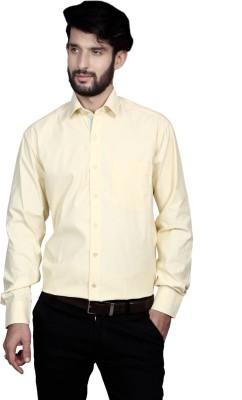 Yorkshire Men's Solid Formal Yellow Shirt