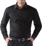 PSK Men's Solid Formal Black Shirt