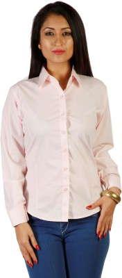 Hugo Chavez Women's Solid Formal Pink Shirt