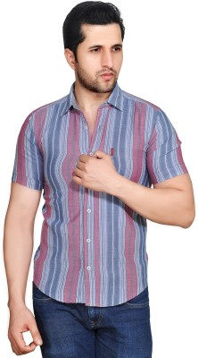Ubho Core Men's Striped Casual Multicolor Shirt