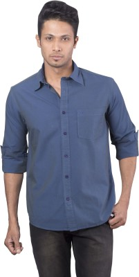 Barrier Reef Men's Solid Casual Blue Shirt