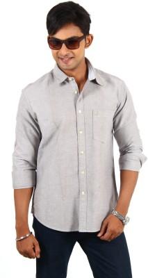 Barrier Reef Men's Solid Casual Grey Shirt