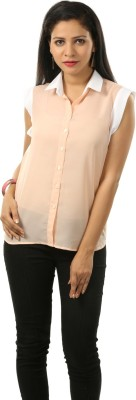 Cambow Women's Solid Casual Pink, White Shirt