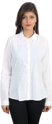 Charisma Women's Solid Casual White Shirt