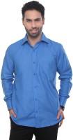 Vinaratrends Formal Shirts (Men's) - VinaraTrends Men's Solid Formal Blue Shirt