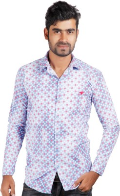 Alley Brothers Men's Printed Casual Red, White Shirt