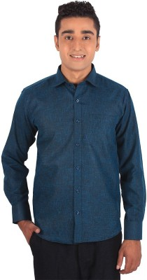 Henry Spark Men's Solid Casual Black Shirt
