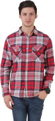 Mind The Gap Men's Checkered Casual Multicolor Shirt