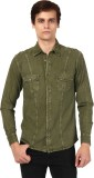 Oxolloxo Men's Solid Casual Green Shirt