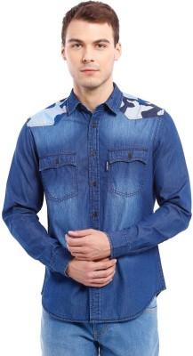 Deep Navy Men's Solid Casual Blue Shirt