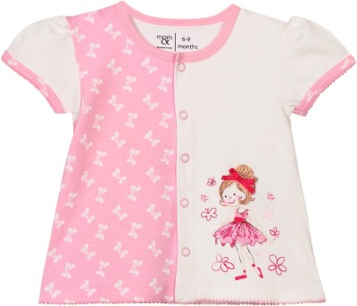 Mom & Me Baby Girl's Printed Casual Multicolor Shirt