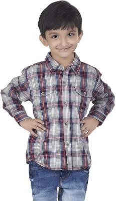 SuperYoung Boy's Checkered Casual Grey Shirt