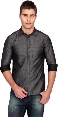 Unmask Men's Printed Casual Grey Shirt