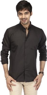 Acropolis Men's Solid Formal Black Shirt