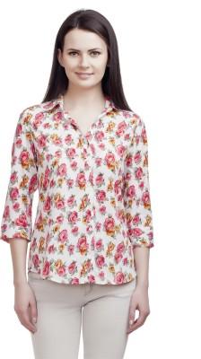 ORIANNE Women's Floral Print Casual Multicolor Shirt