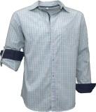 Darium Men's Checkered Casual White, Dar...
