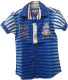 Angel Kids Boys Striped Party Blue, Whit...